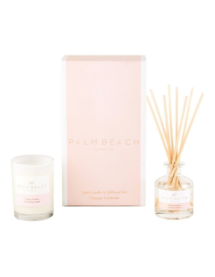 Vintage Gardenia Mini Candle & Diffuser Gift Pack image 1