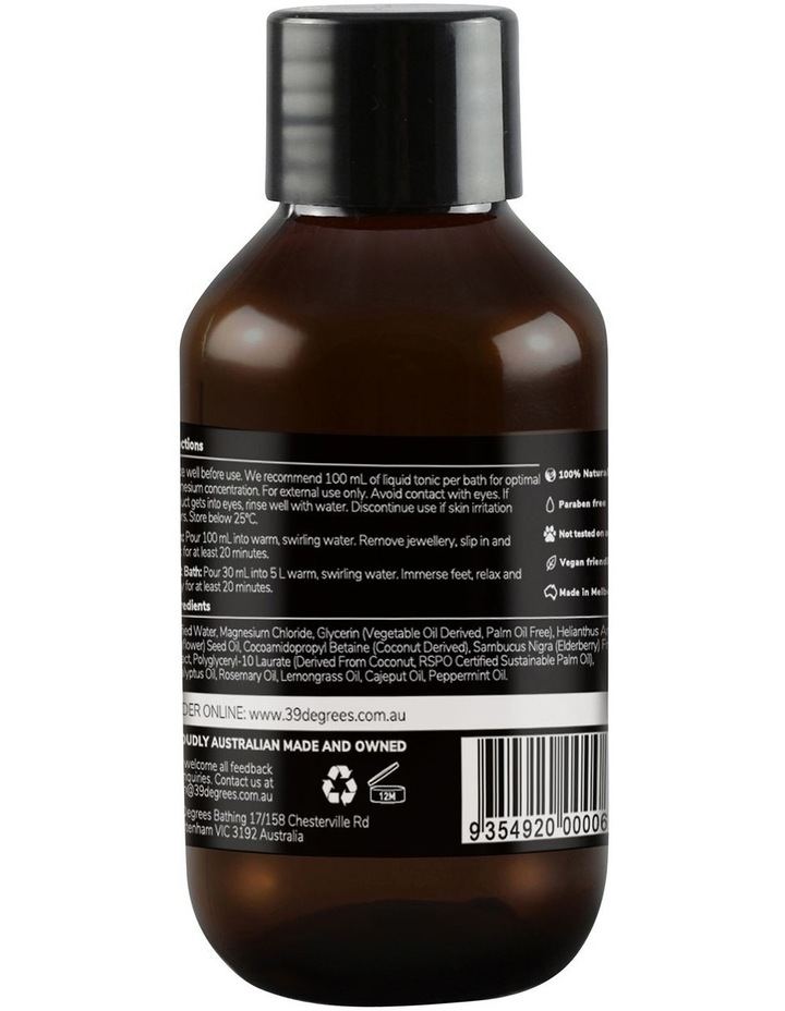 Natural Magnesium Mineral Bath Tonic Post-Workout 100ml image 2