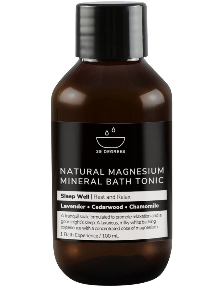 Natural Magnesium Mineral Bath Tonic Sleep Well 100ml image 1
