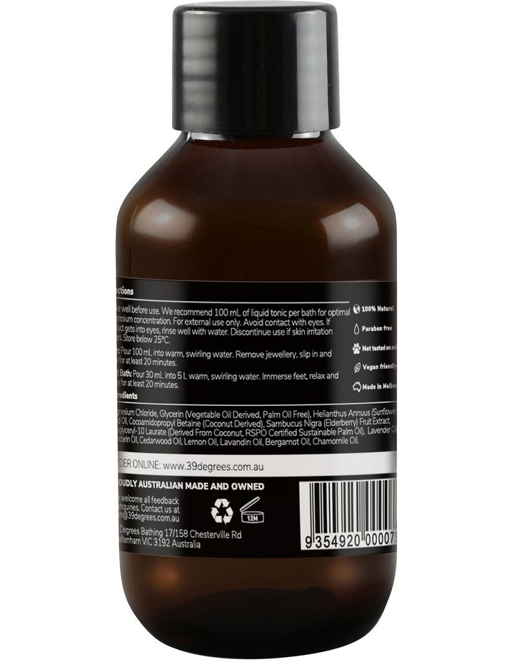 Natural Magnesium Mineral Bath Tonic Sleep Well 100ml image 2