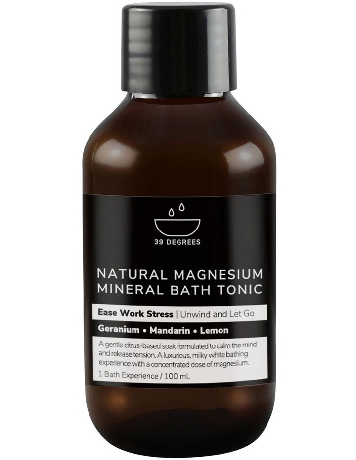 Natural Magnesium Mineral Bath Tonic Ease Work Stress 100ml image 1