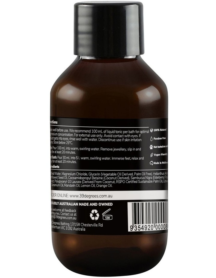 Natural Magnesium Mineral Bath Tonic Ease Work Stress 100ml image 2