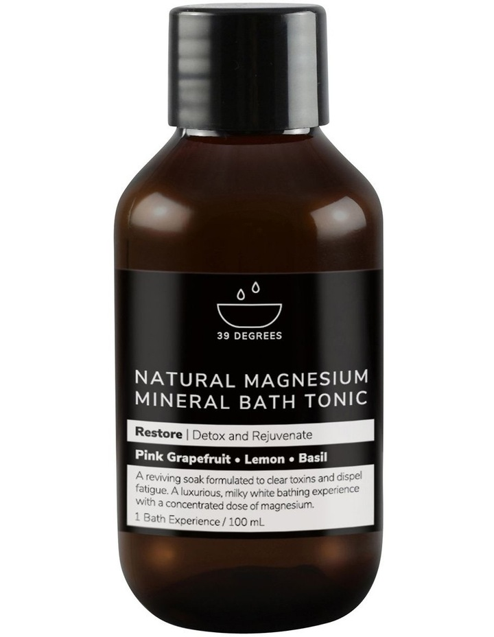 Natural Magnesium Mineral Bath Tonic Restore 100ml image 1