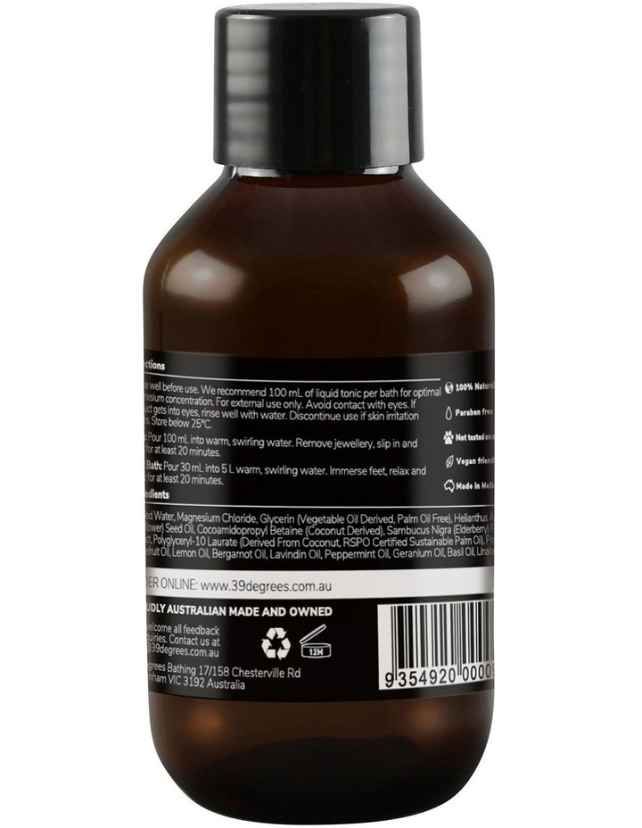Natural Magnesium Mineral Bath Tonic Restore 100ml image 2