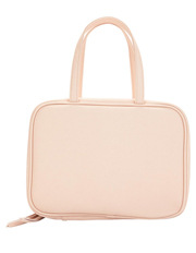 Blush Double Handed Zip Cos Bag by True:Essentials