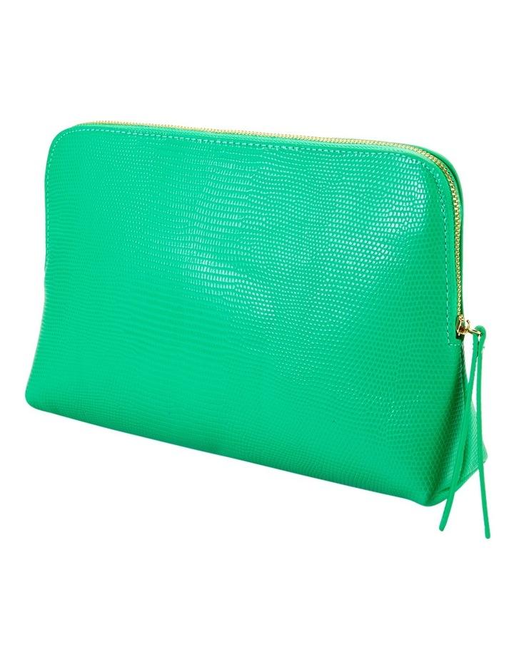 Large Zip Around Cos Bag Green image 1