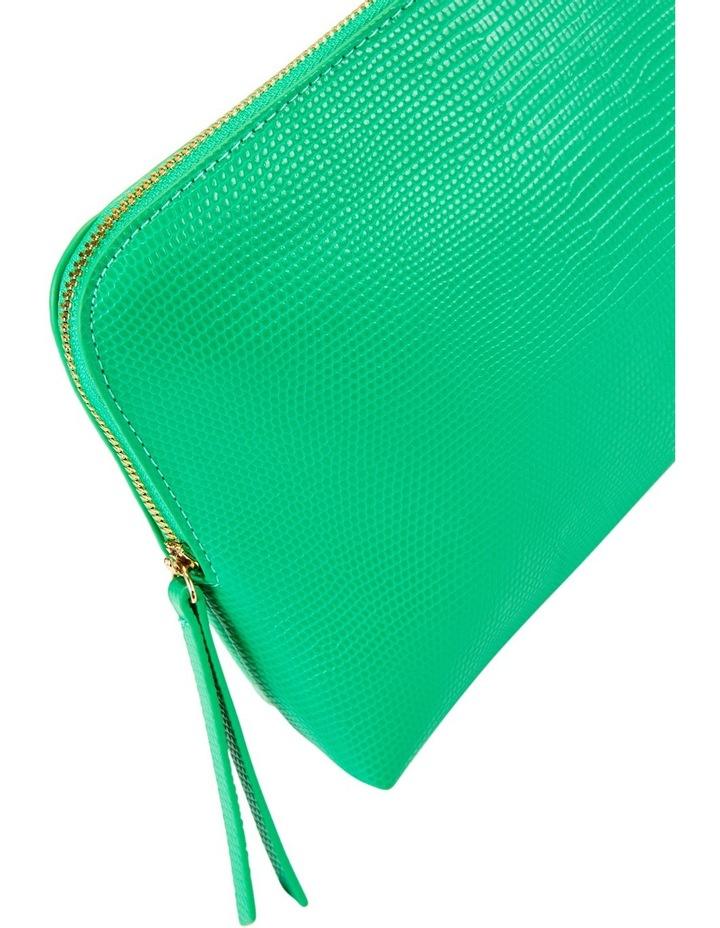Large Zip Around Cos Bag Green image 3