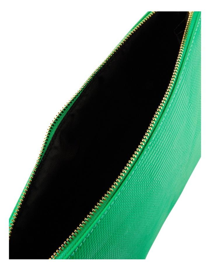 Large Zip Around Cos Bag Green image 4