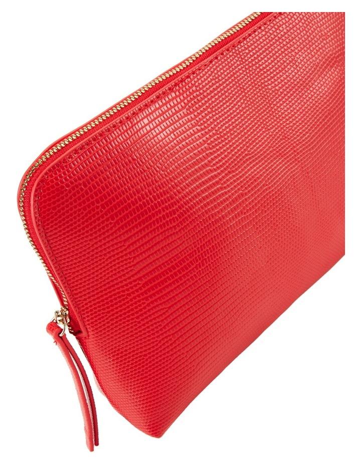 Large Zip Around Cos Bag Red image 3