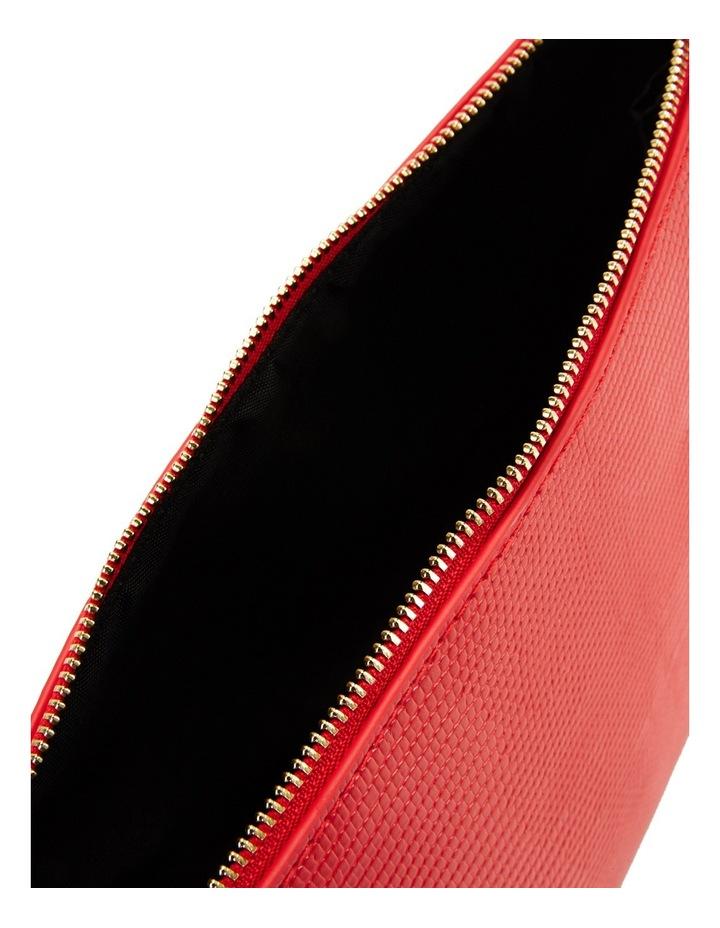 Large Zip Around Cos Bag Red image 4