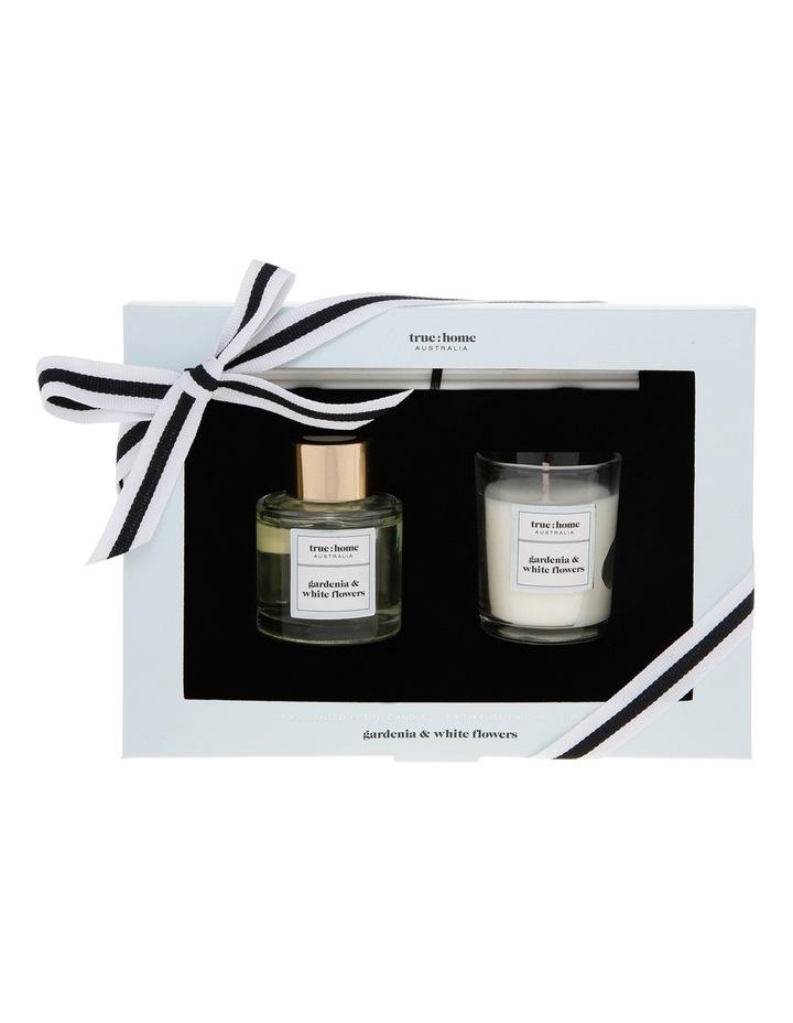 Core Mini Candle and Diffuser Duo Gardenia & White Flowers image 1