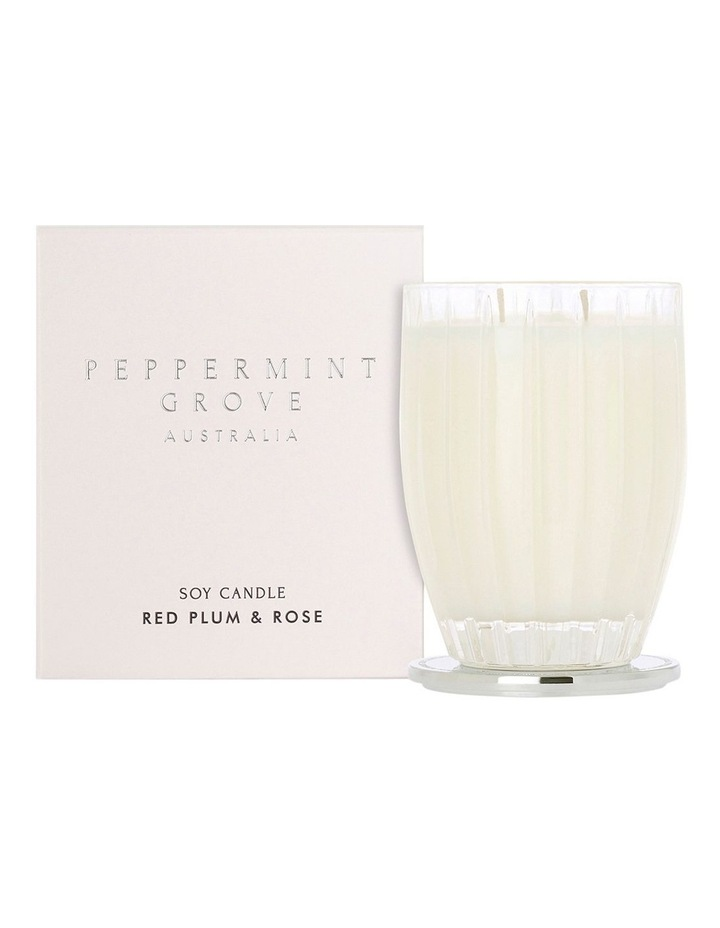 Red Plum & Rose Large Candle 350g image 1