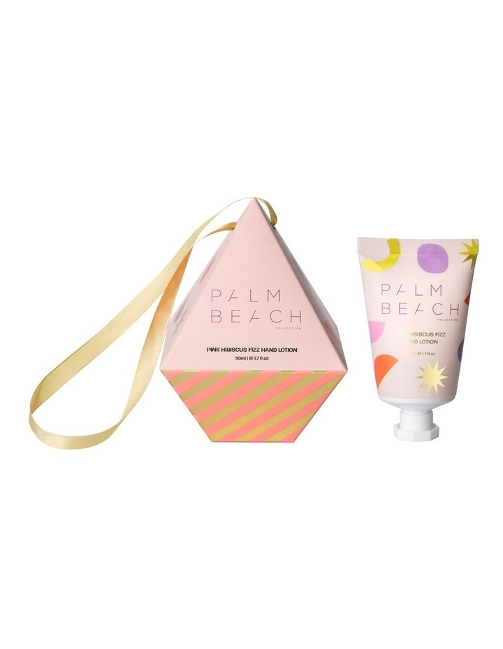 Hanging Bauble Pink Hibiscus Fizz 50ml Hand Lotion image 1