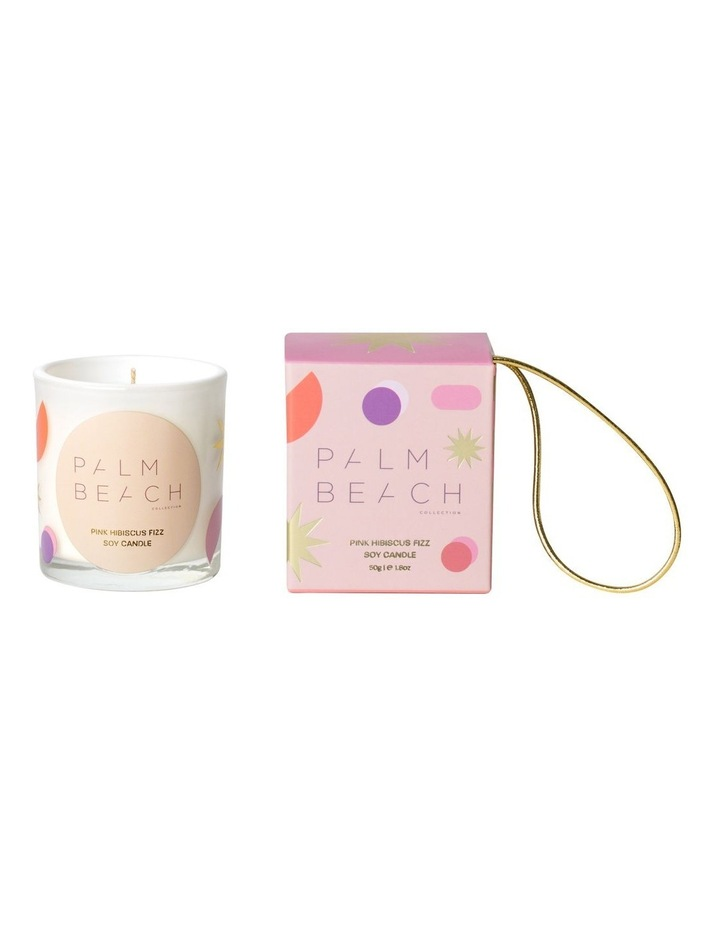 Extra Mini Candle- Hanging Bauble - Pink Hibiscus Fizz 50g image 1