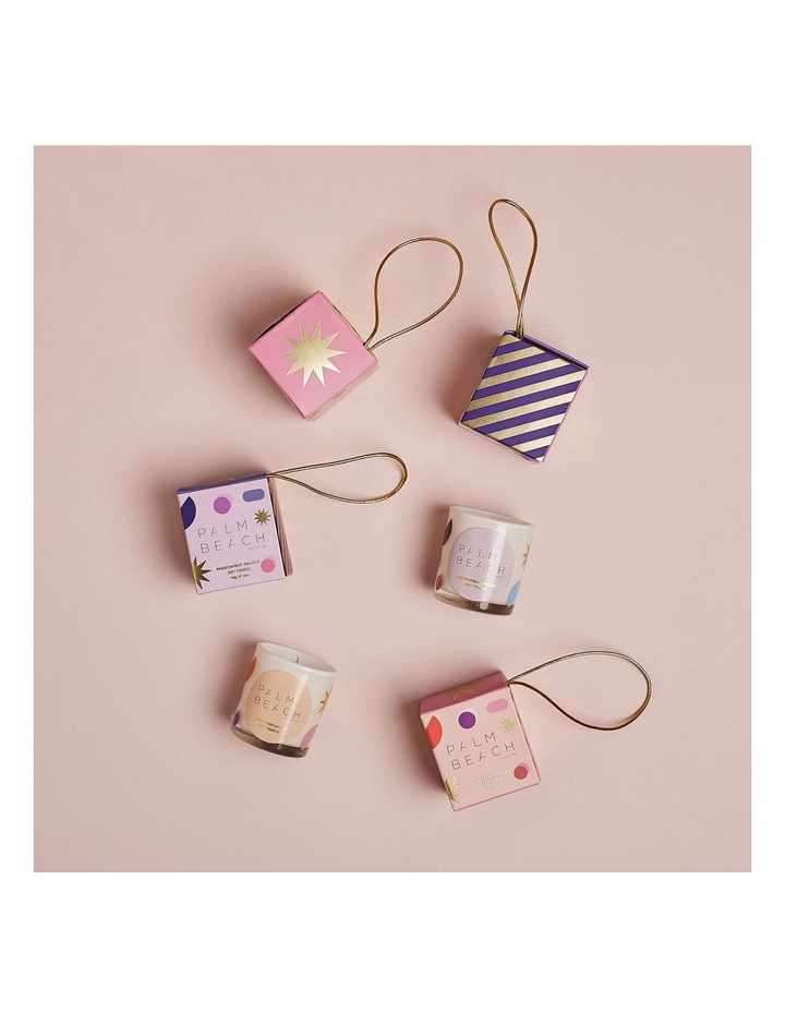 Extra Mini Candle- Hanging Bauble - Pink Hibiscus Fizz 50g image 2