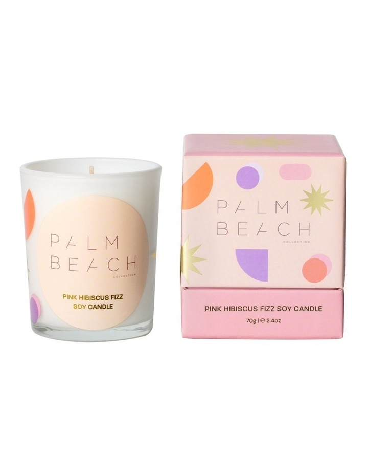 Mini Candle - Pink Hibiscus Fizz 70g image 1