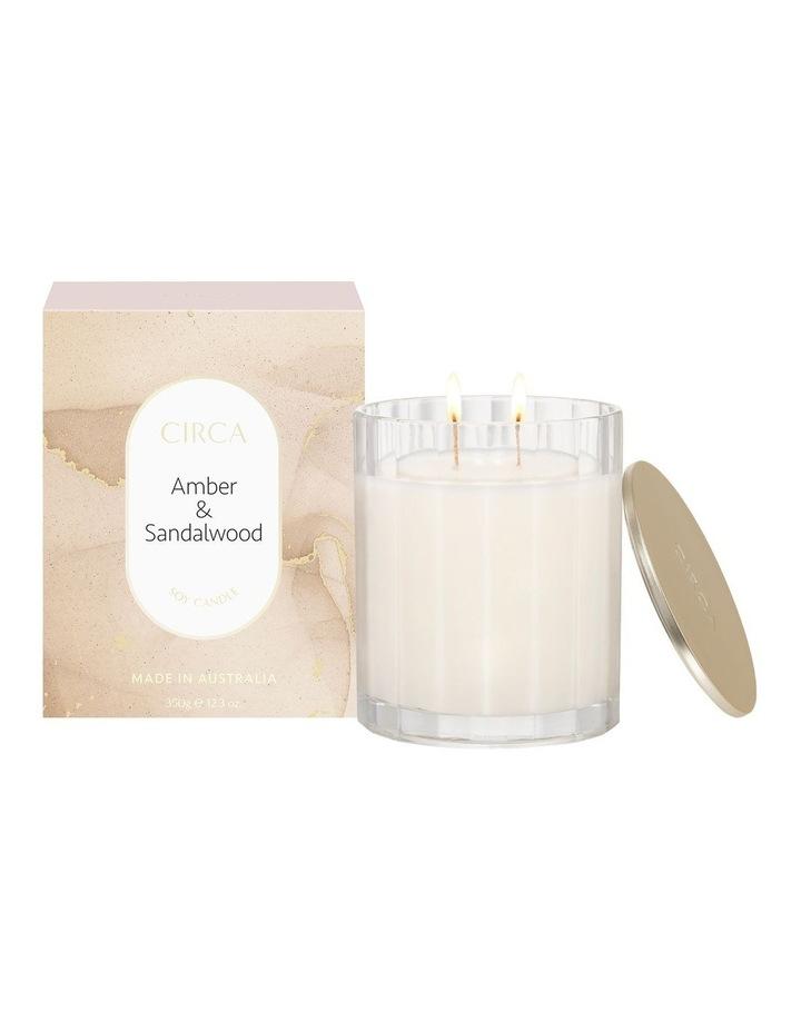 Amber & Sandalwood Scented Soy Candle 350g image 1