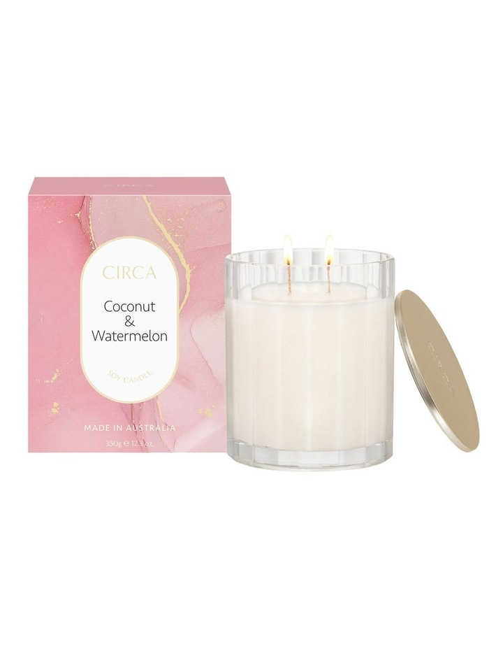 Coconut & Watermelon Scented Soy Candle 350g image 1
