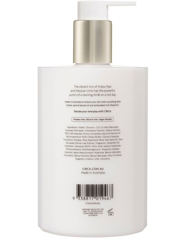Pear & Lime Hand Lotion 450ml image 2
