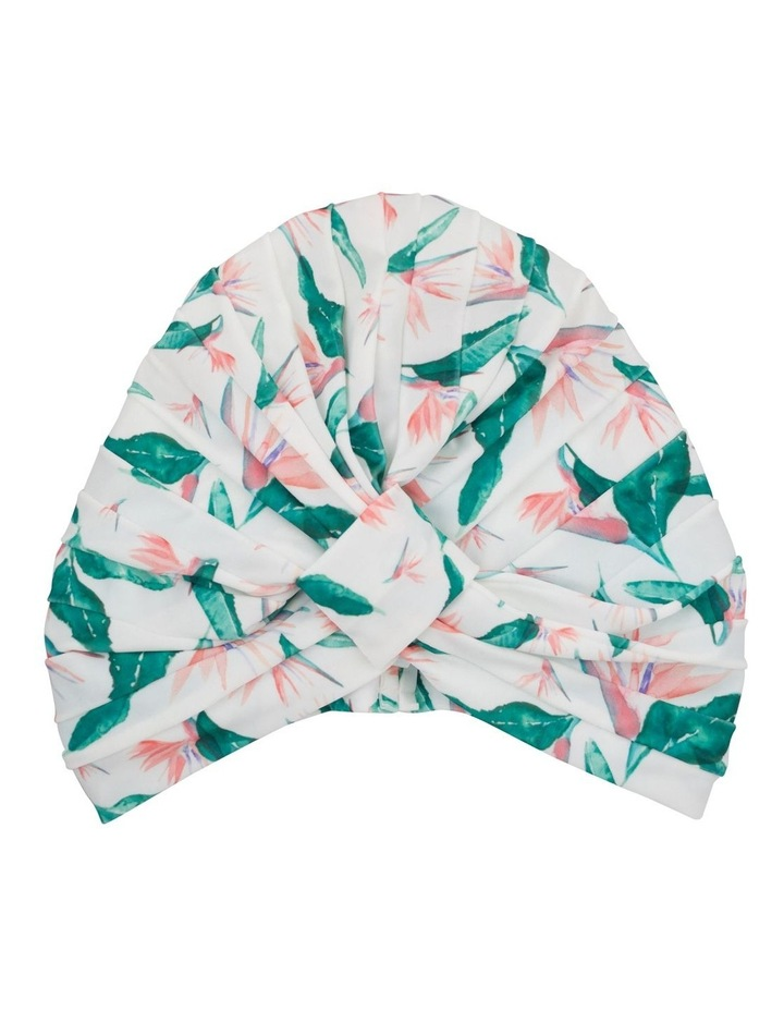 Louvelle Amelie Shower Cap In Hawaiian Bird Of Paradise image 2
