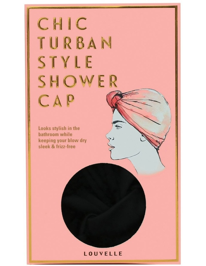 Louvelle Dahlia Shower Cap In Black image 1