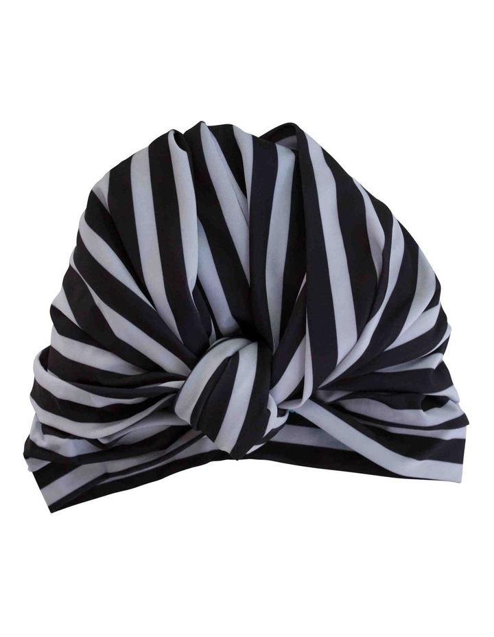 Louvelle Dahlia Shower Cap In Monochrome Stripe image 2