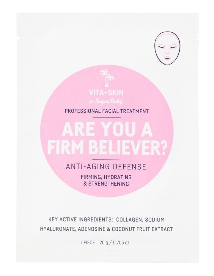 Are You A Firm Beliver? Face Mask Sachet image 1