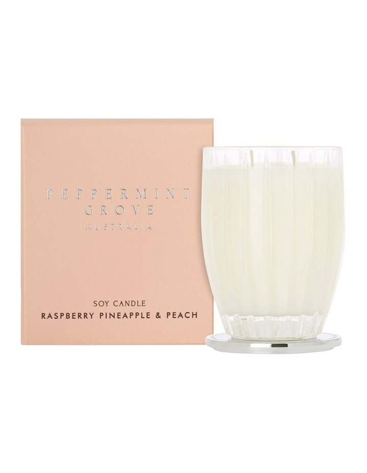 Raspberry Pineapple & Peach Large Candle 350g image 1