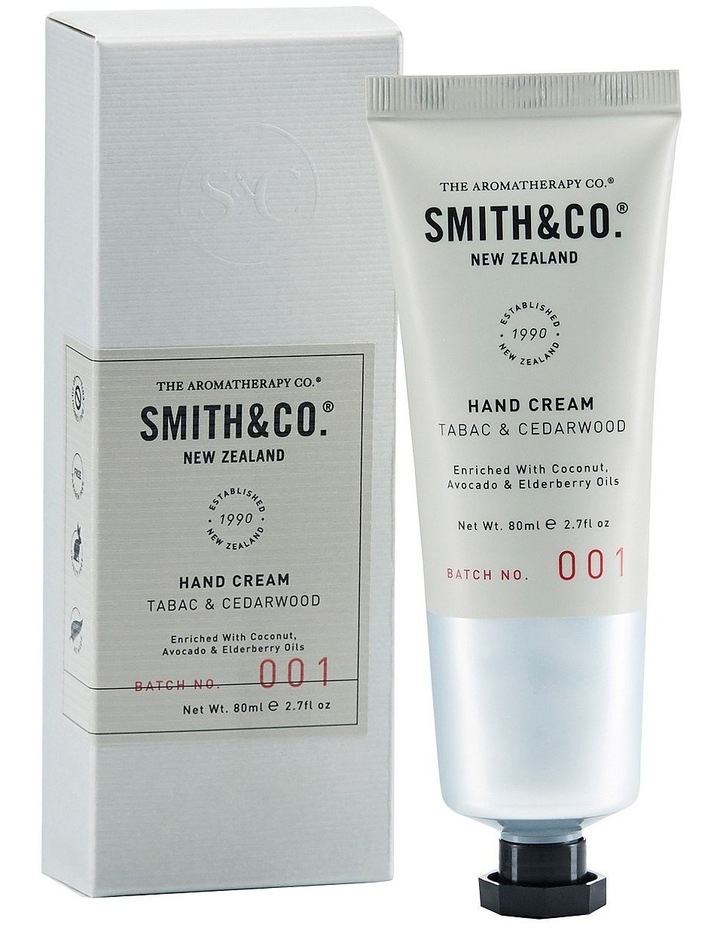 Smith & Co Hand Cream 80ml Tabac & Cedarwood image 1