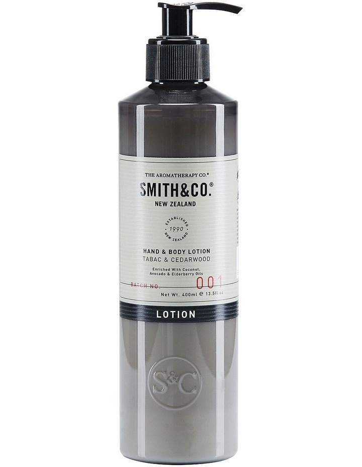 Smith & Co Hand & Body Lotion 400ml Tabac & Cedarwood image 1