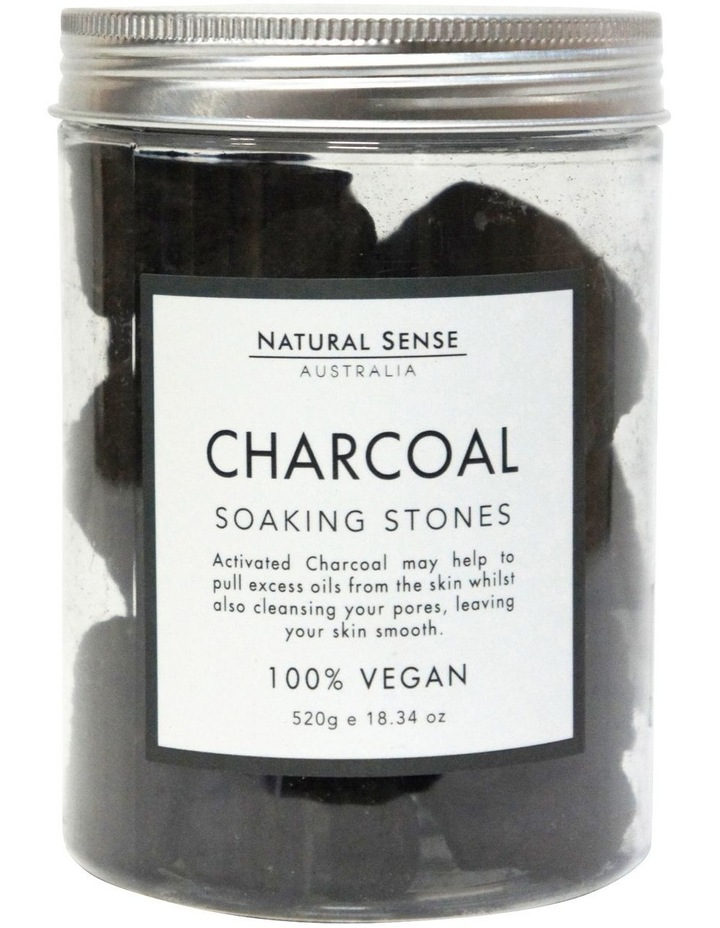 Herbal Remedies Soaking Stones - Charcoal 520g image 1