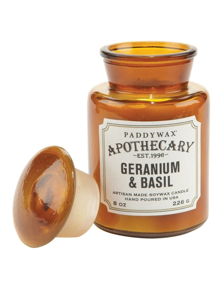 Apothecary Candle-Geranium & Basil image 1