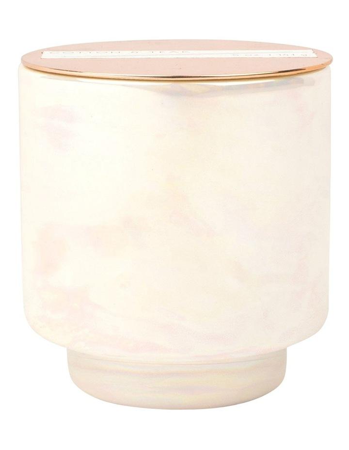 Glow Candle -Cotton & Teak image 1