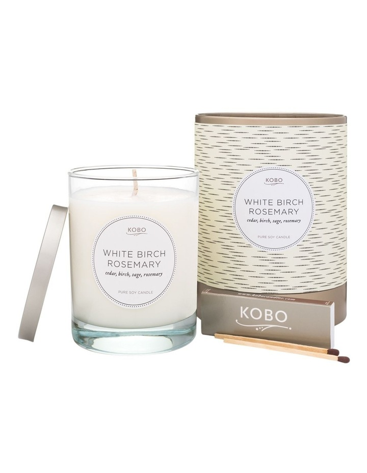 White Birch Rosemary Candle image 1