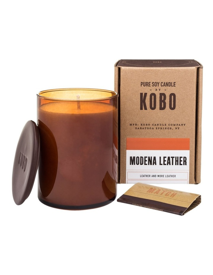 Modena Leather Candle image 1