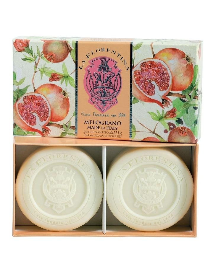 2 Bar Soaps Pomegranate image 1