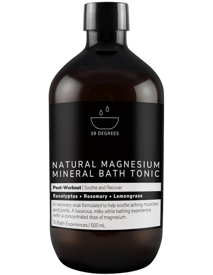 Natural Magnesium Mineral Bath Tonic Post-Workout 500ml image 1