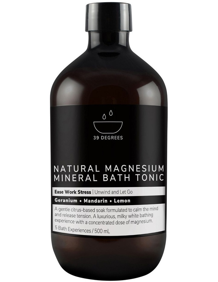 Natural Magnesium Mineral Bath Tonic Ease Work Stress 500ml image 1