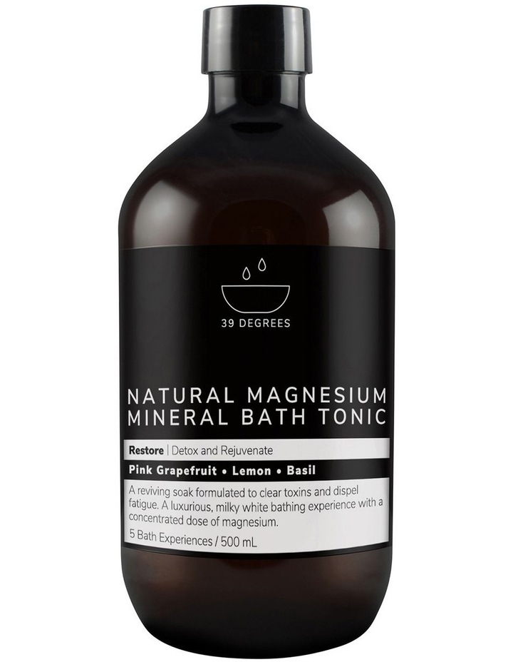 Natural Magnesium Mineral Bath Tonic Restore 500ml image 1