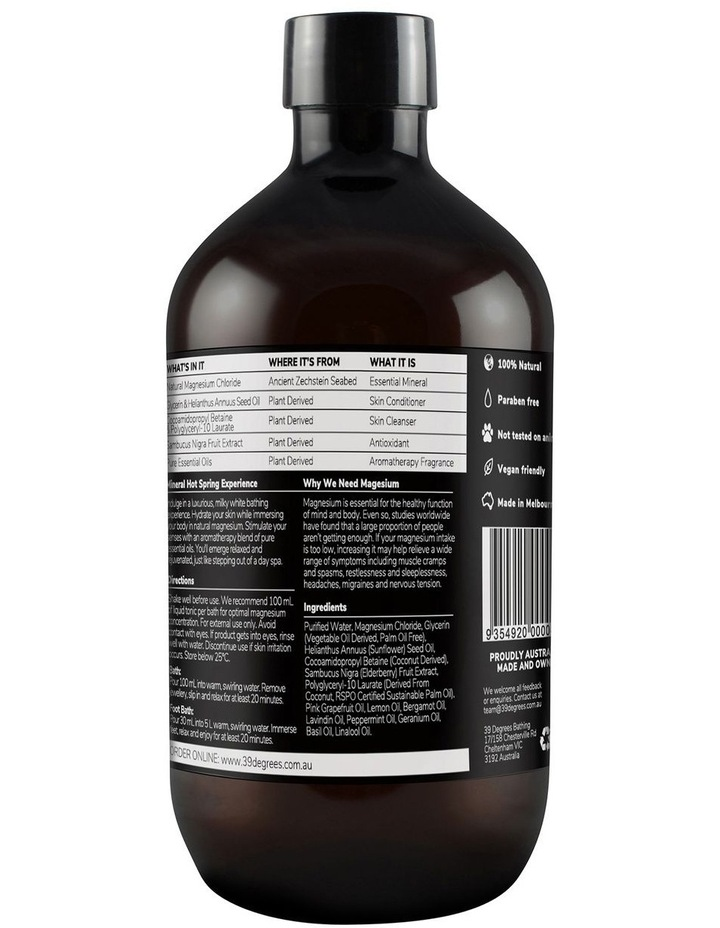 Natural Magnesium Mineral Bath Tonic Restore 500ml image 2