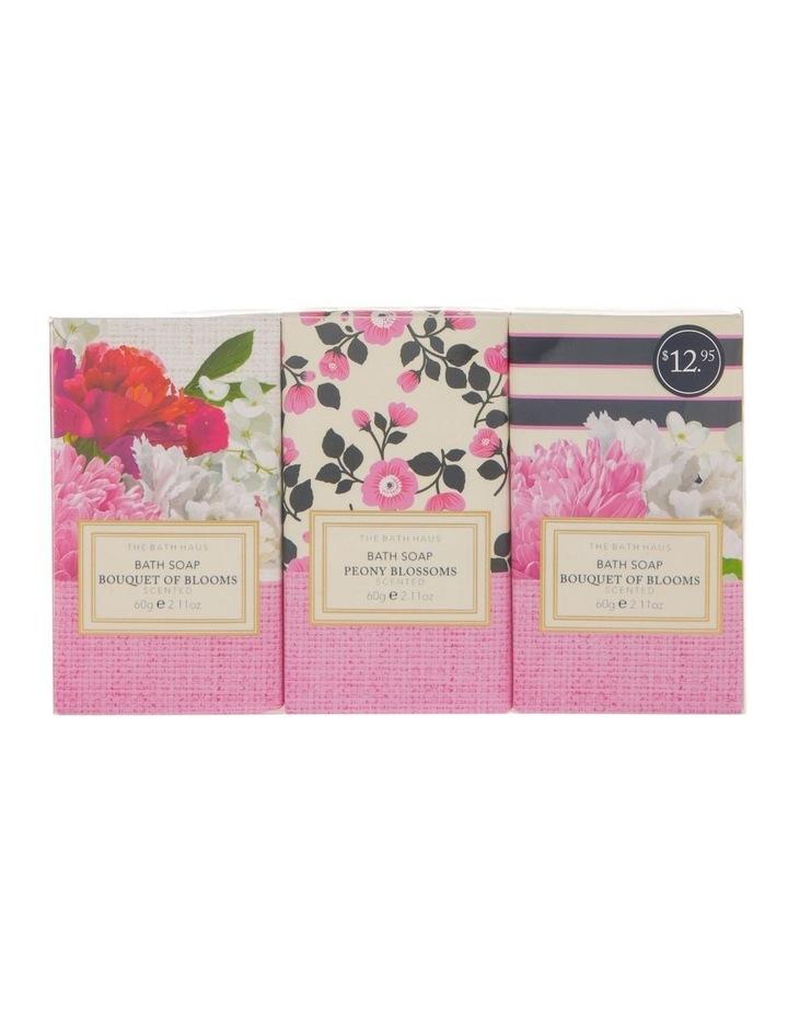 The Bath Haus Bouquet of Blooms Body Soap Trio image 1