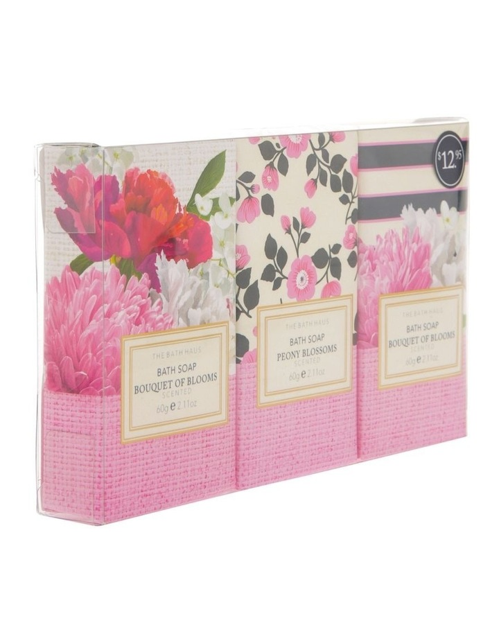 The Bath Haus Bouquet of Blooms Body Soap Trio image 2