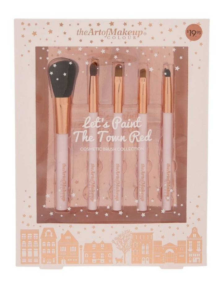 The Art of Makeup Let's Paint The Town Red Cosmetic Brush Collection image 1