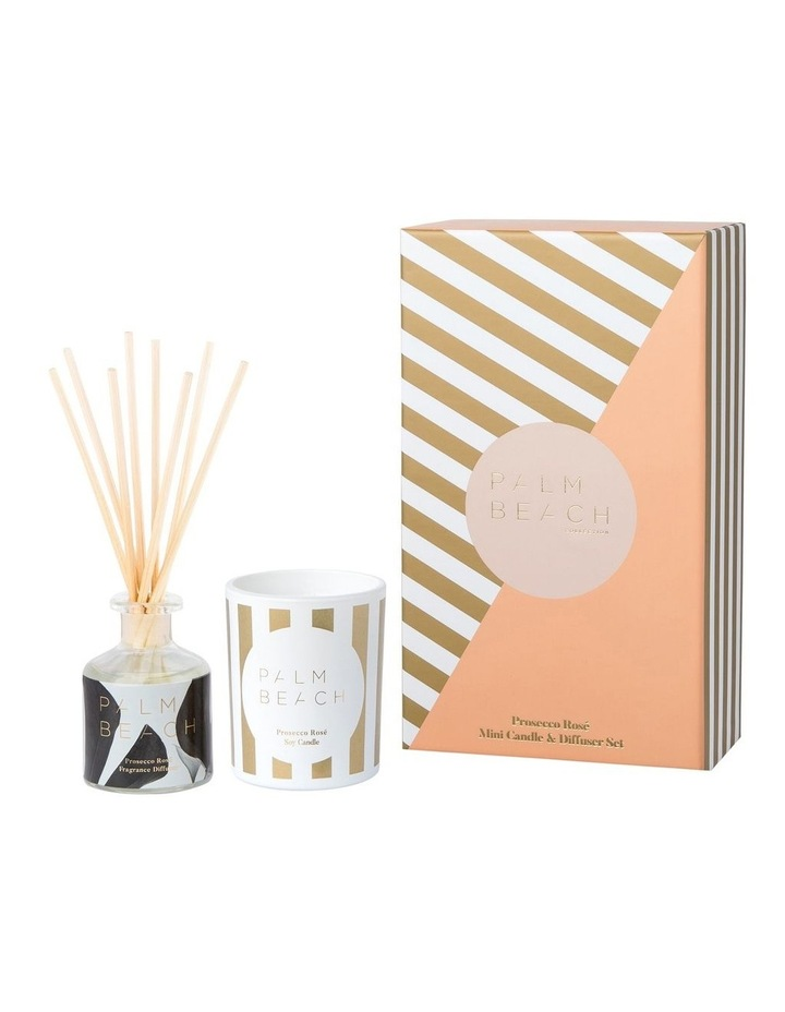 Prosecco Rose Mini Candle & Diffuser Gift Pack image 1