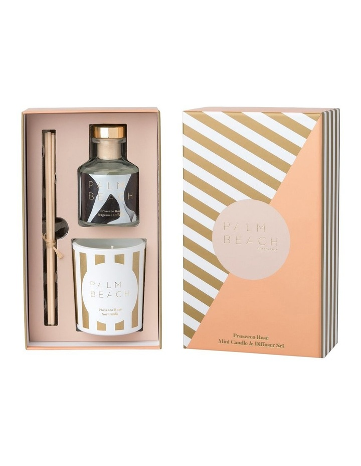 Prosecco Rose Mini Candle & Diffuser Gift Pack image 2