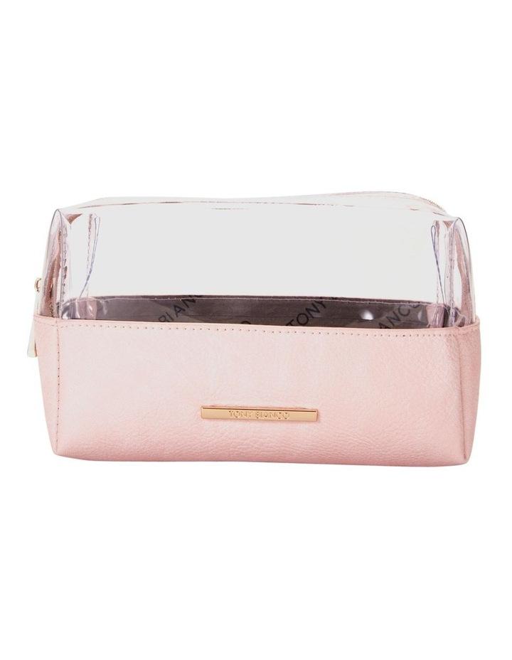 Top Zip Cosmetic Bag Pink image 1
