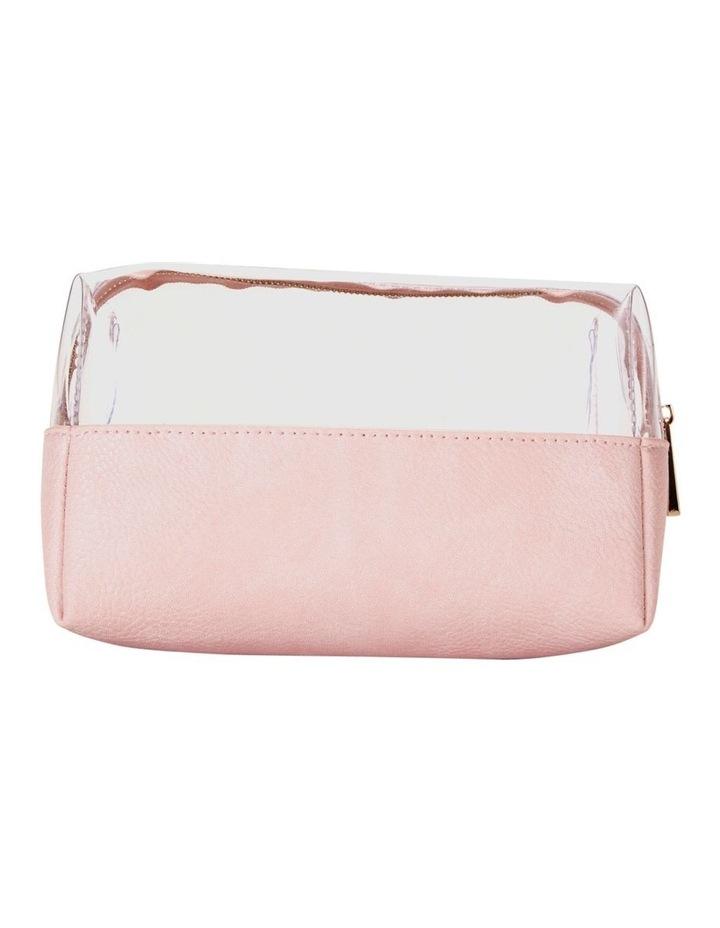 Top Zip Cosmetic Bag Pink image 2