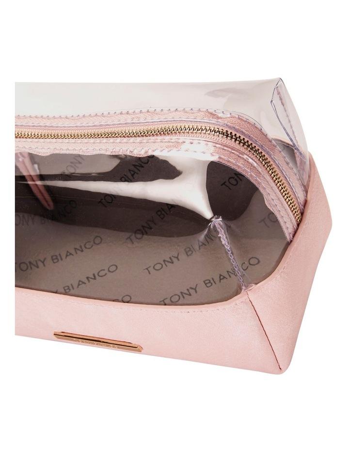 Top Zip Cosmetic Bag Pink image 4