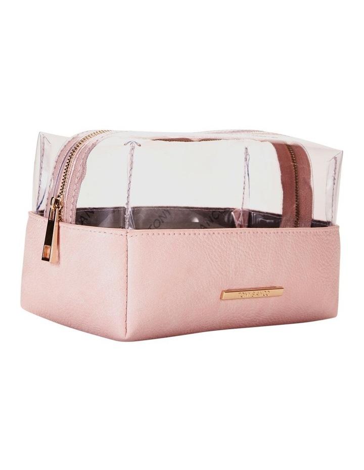 Top Zip Cosmetic Bag Pink image 5