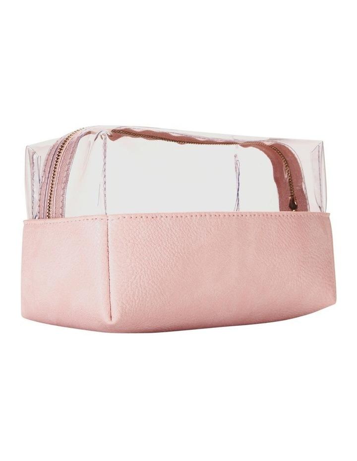 Top Zip Cosmetic Bag Pink image 6
